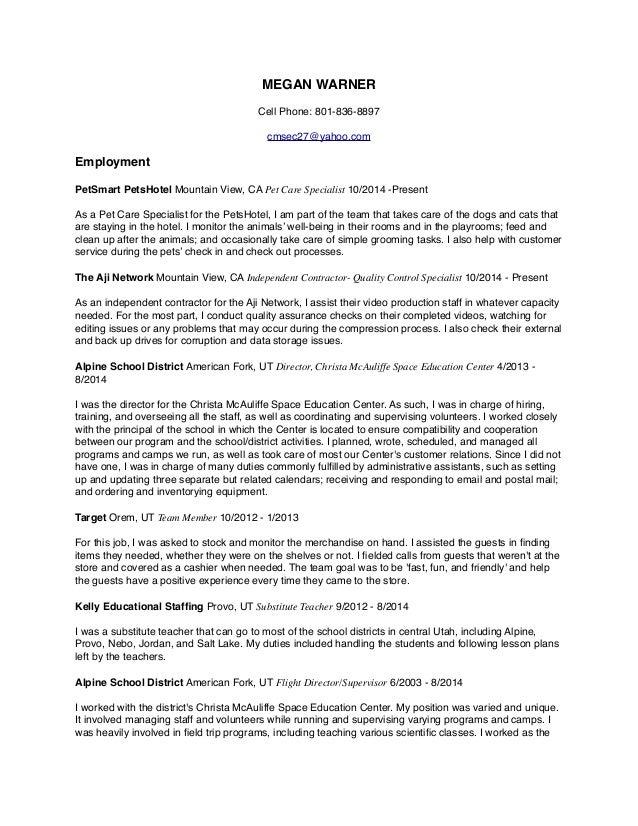 Megan Warner\'s Resume + Film