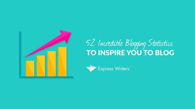 52 Incredible Blogging Statistics to Inspire You to Blog