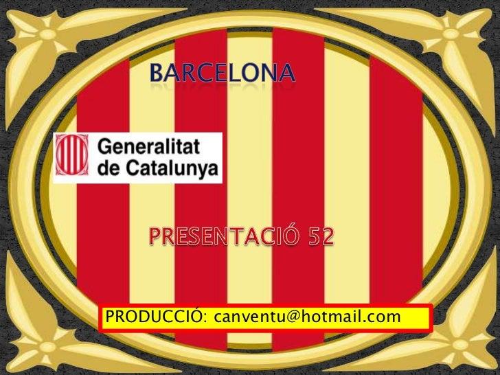 PALAU GENERALITAT DE CATALUNYA  BARCELONA  PRESENTACIÓN 52