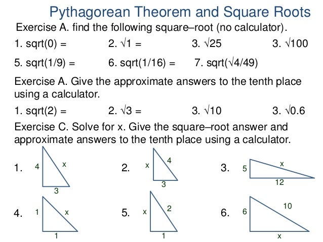 how to solve pythagorean theorem
