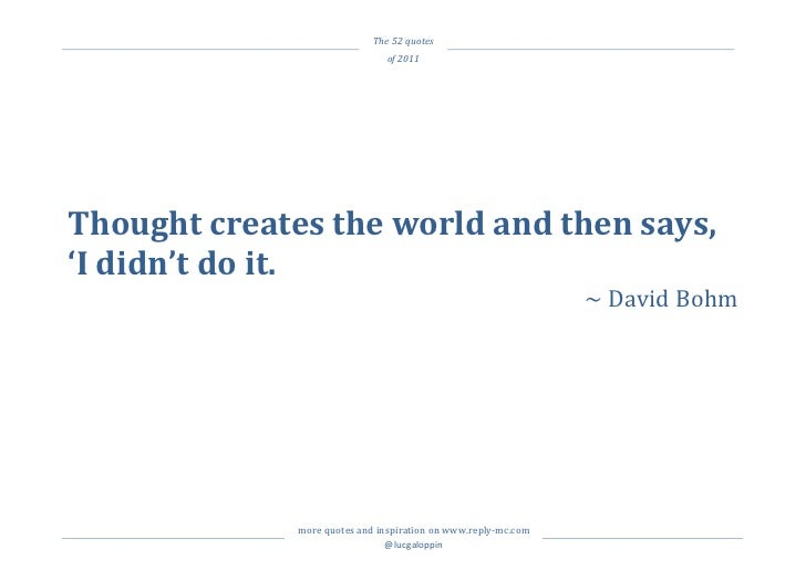 The 52 quotes                                                 of 2011 ...