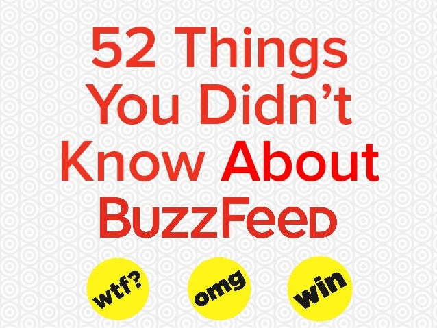 52 Things You Didn't Know About