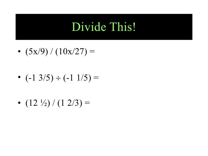5.3 And 5.4 Operations With Fractions