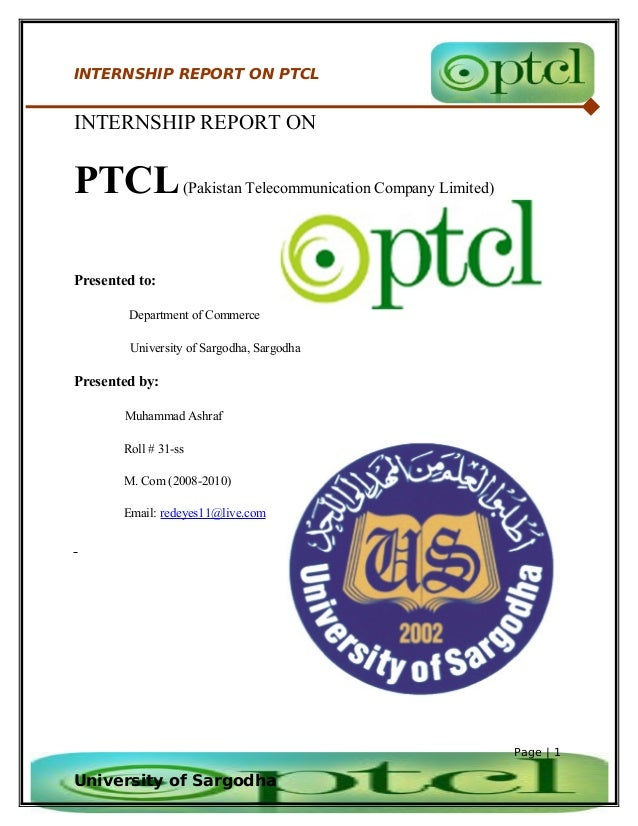 ptcl hrm internship report Internship report on ptcl hubco narowal power plant is a 225 mw power generation facility, located 16 km from narowal city, punjab pakistan.
