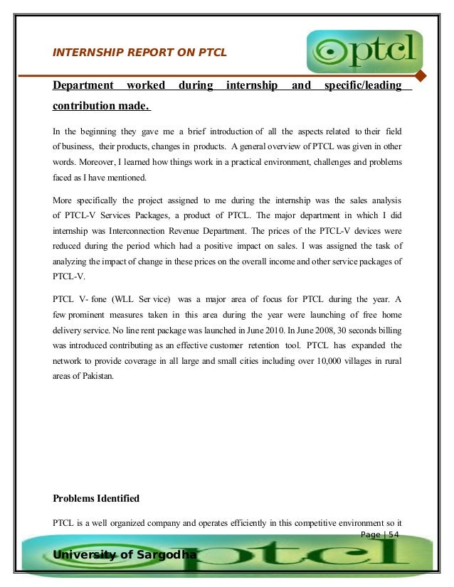ptcl hrm internship report The objectives of the hr department at ptcl | 6 | 5  internship report of ptcl  ptcl internship report supervisor mr ehtesham.
