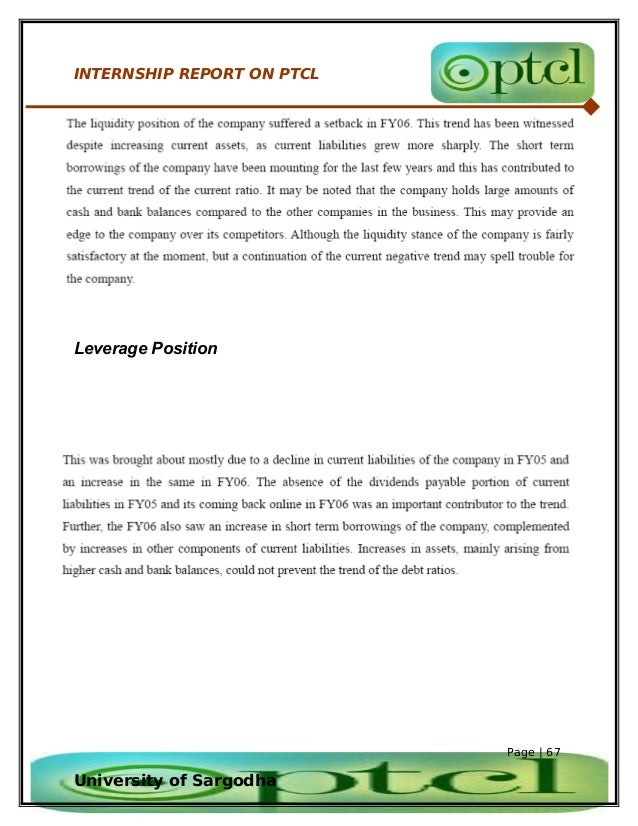 internship report on ufone Ufone's summer internship program 2013 karachi (monday, october 29, 2013) - ufone is pakistan's third largest mobile cellualr services provider it has ptcl, evo, student, packages.
