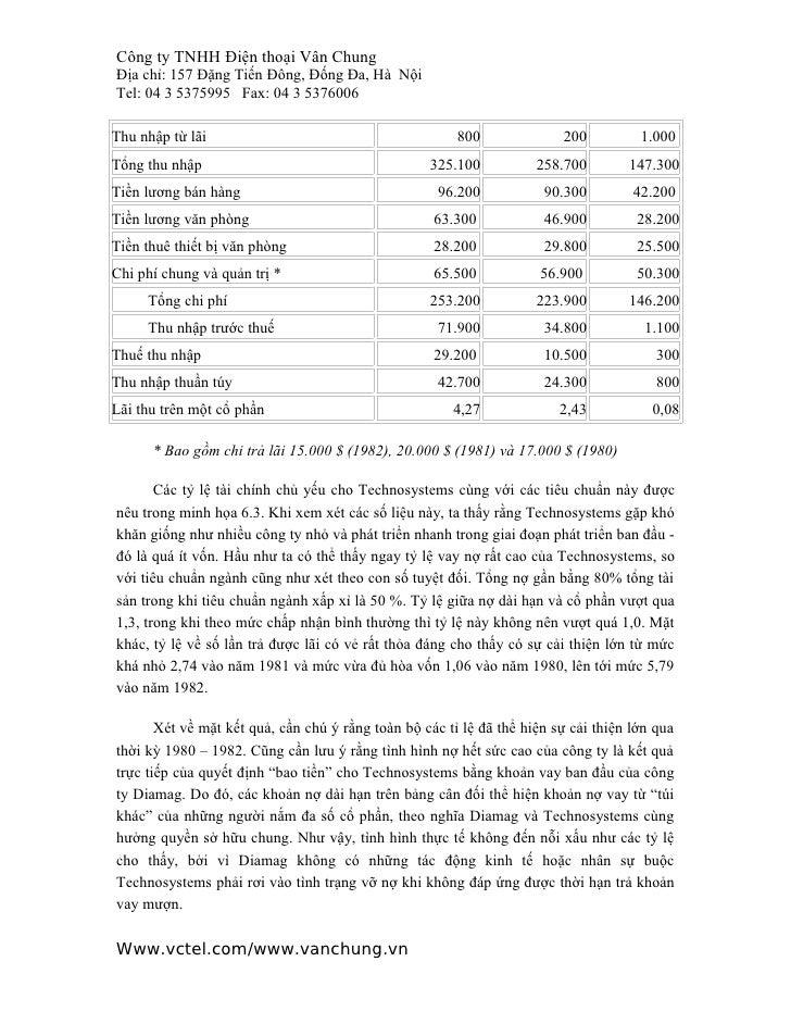 Công ty TNHH Điện thoại Vân ChungĐịa chỉ: 157 Đặng Tiến Đông, Đống Đa, Hà NộiTel: 04 3 5375995 Fax: 04 3 5376006Thu nhập t...