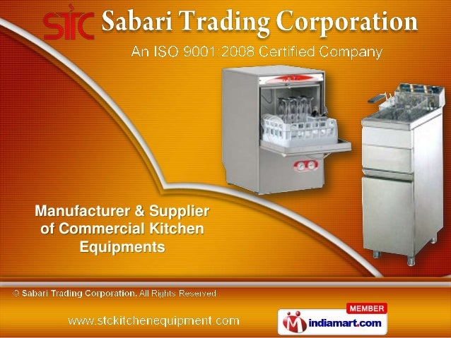 Manufacturer & Supplierof Commercial Kitchen     Equipments