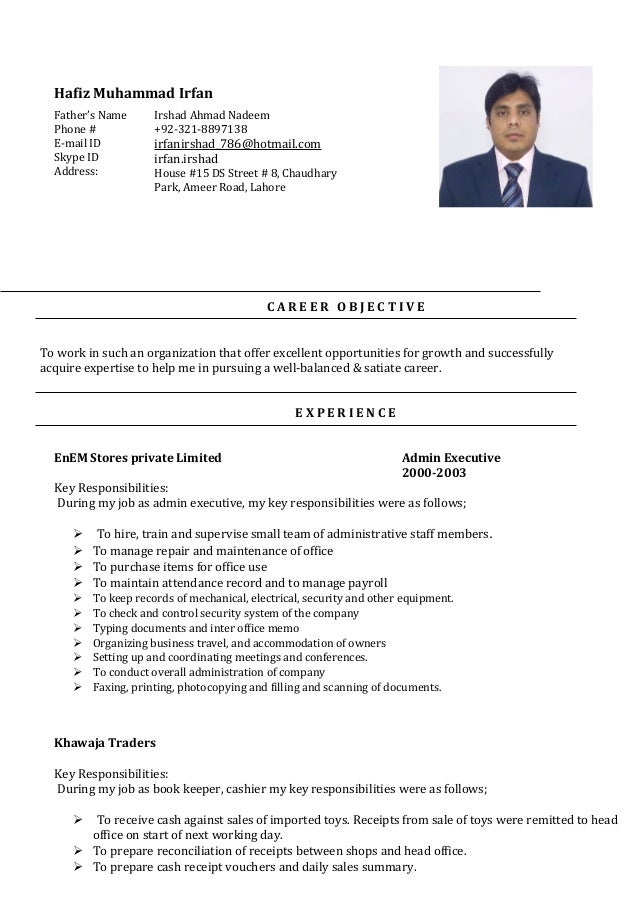 CV H M Irfan