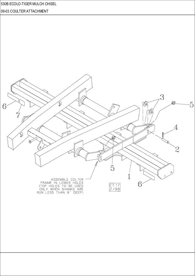 CASE 530 B ECOLO-Tiger Mulch Chisel parts catalog