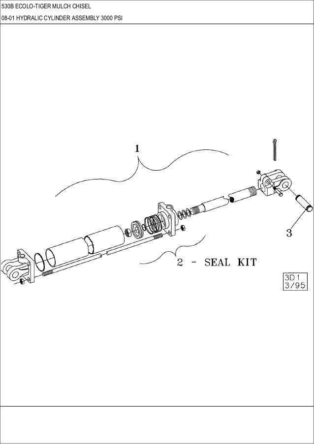 CASE 530 B ECOLO-Tiger Mulch Chisel parts catalog
