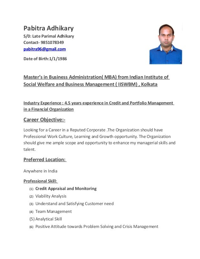 credit manager resume