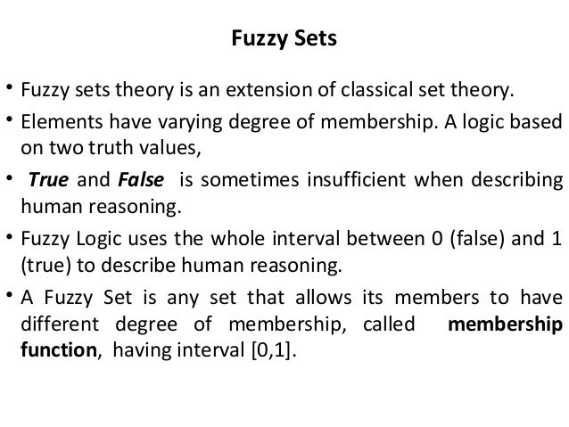 fuzzy set theoryand its applications