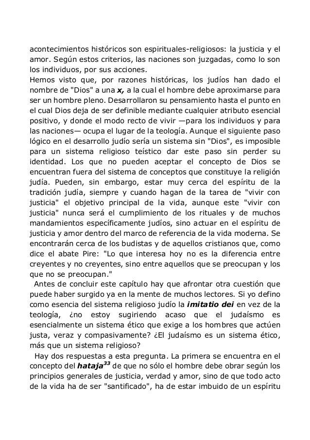 acontecimientos históricos son espirituales-religiosos: la justicia y el amor. Según estos criterios, las naciones son juz...