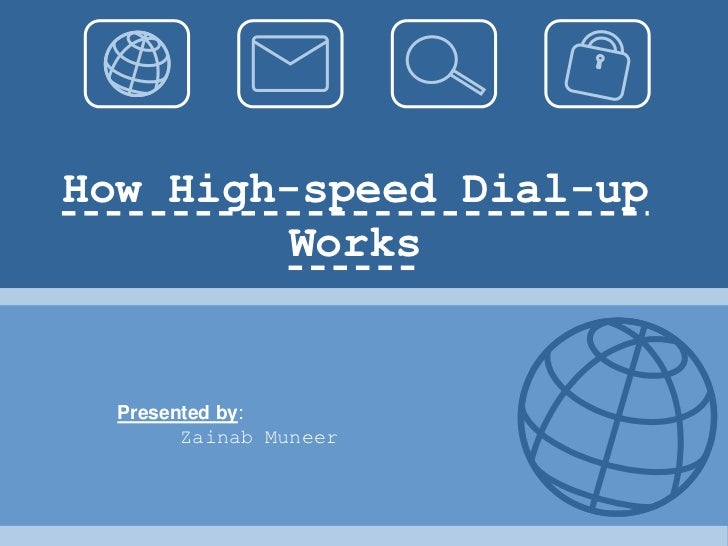 How High-speed Dial-up        Works  Presented by:        Zainab Muneer
