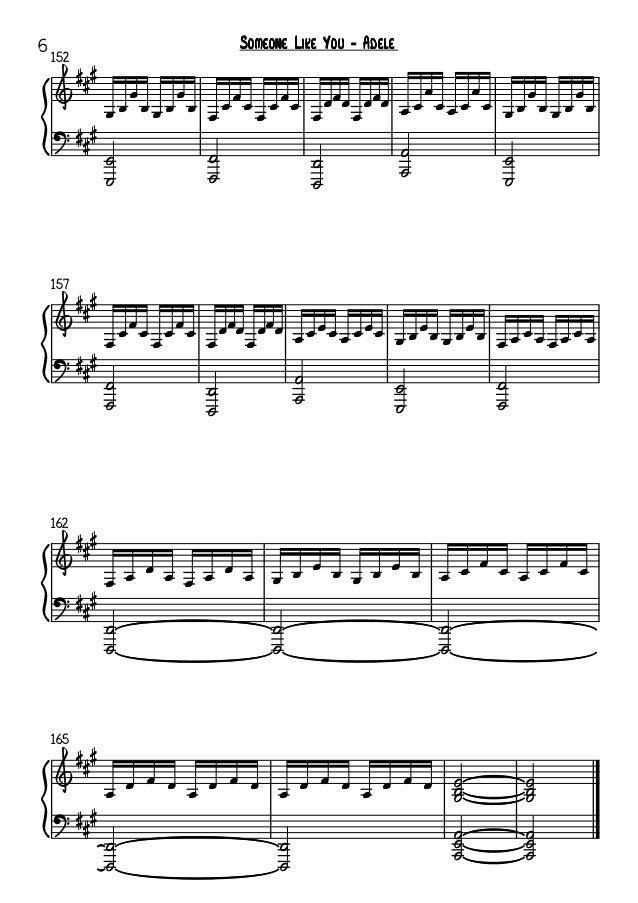 All Music Chords Adele Someone Like You Sheet Music Adele Someone