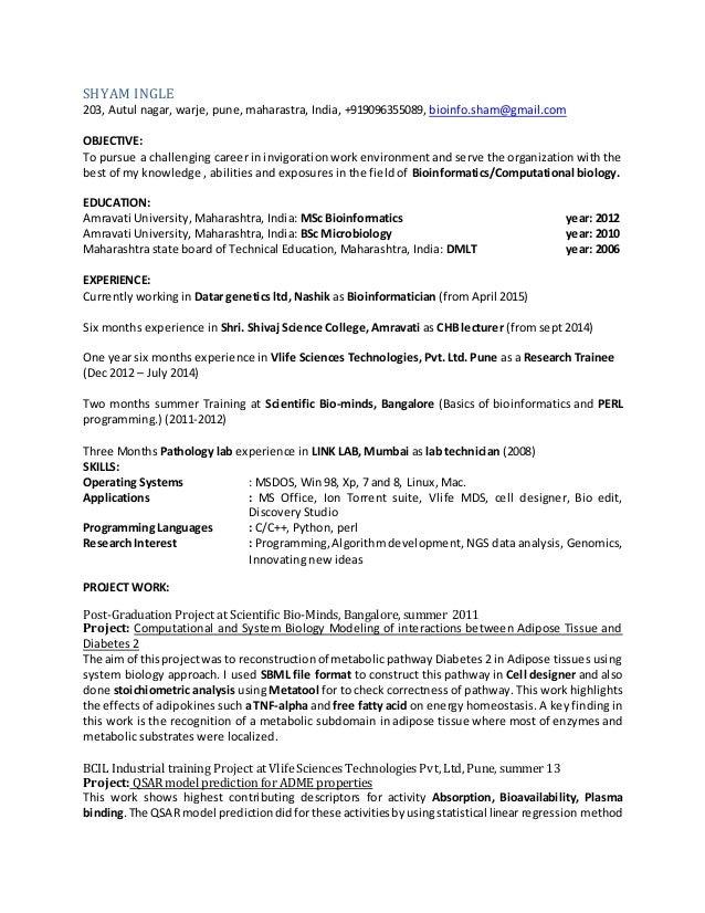 shyam latest resume 2015