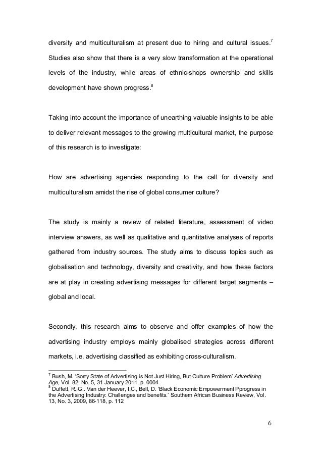 Diversity thesis custom literature review for dissertation