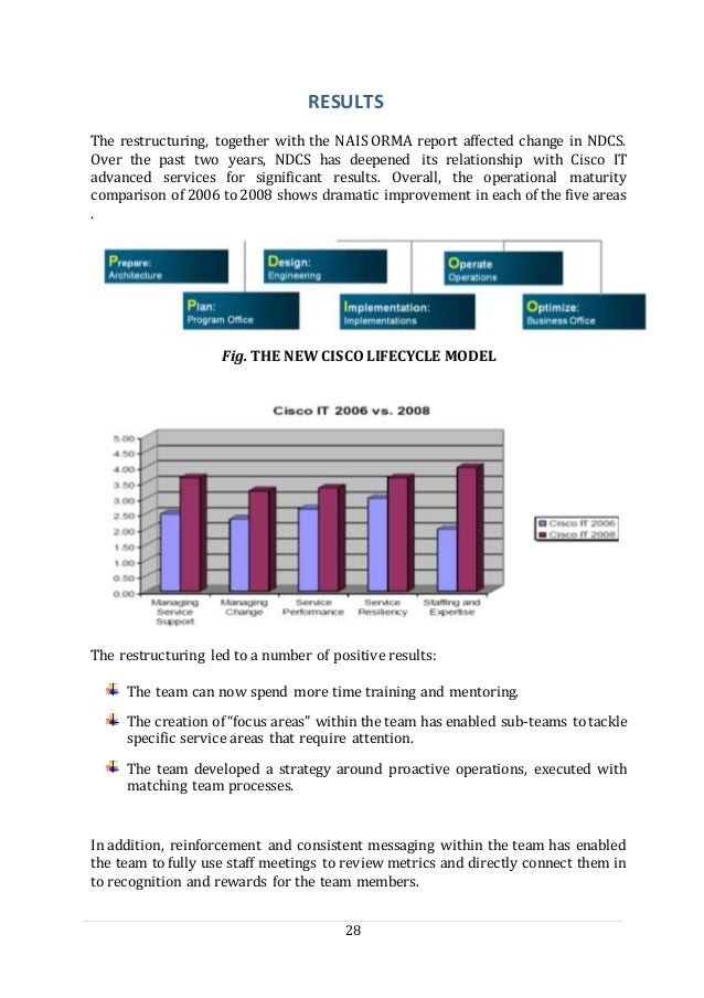 28 RESULTS The restructuring, together with the NAIS ORMA report affected change in NDCS. Over the past two years, NDCS ha...