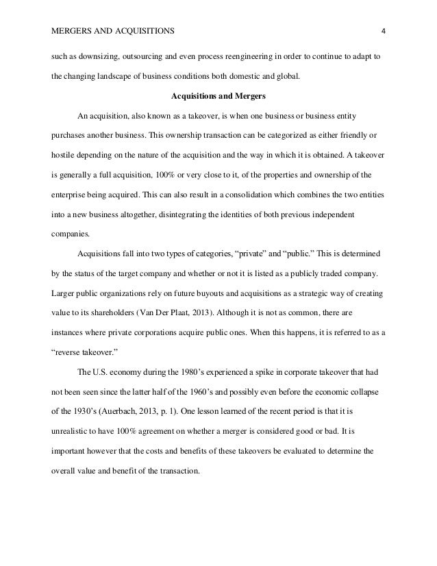 Merger and acquisition dissertation what is dissertations