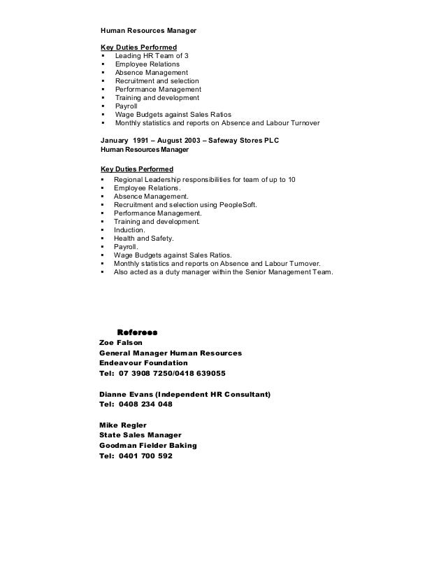 Perfect Resume Examples Human Resources Sample Resume Entry Level
