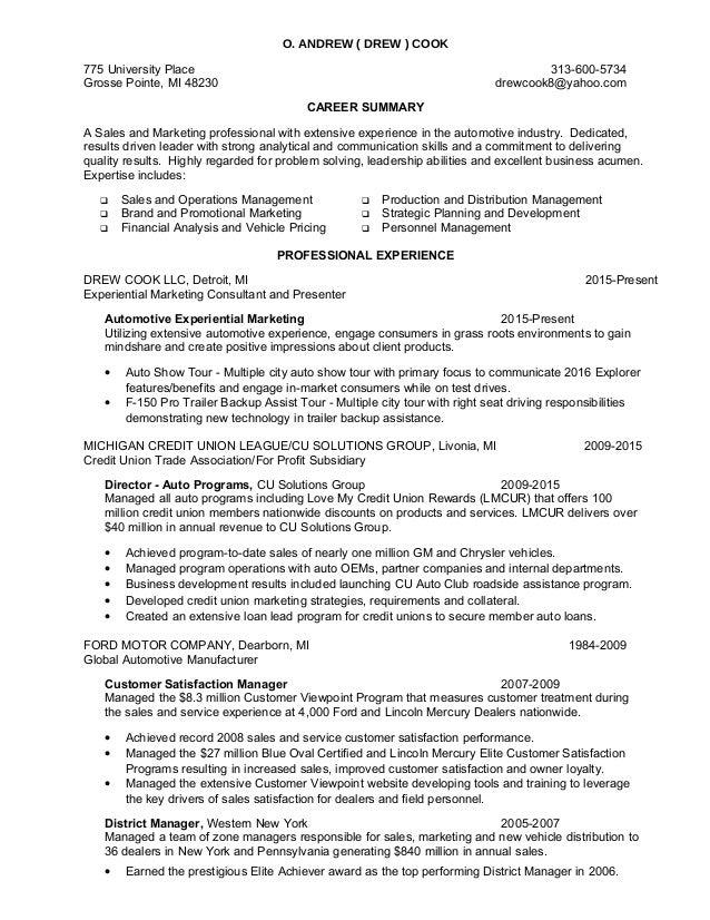 Drew Cook Resume