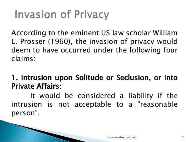 what are the effects of invasion of privacy?
