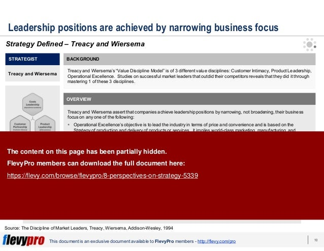 10This document is an exclusive document available to FlevyPro members - http://flevy.com/pro Leadership positions are ach...