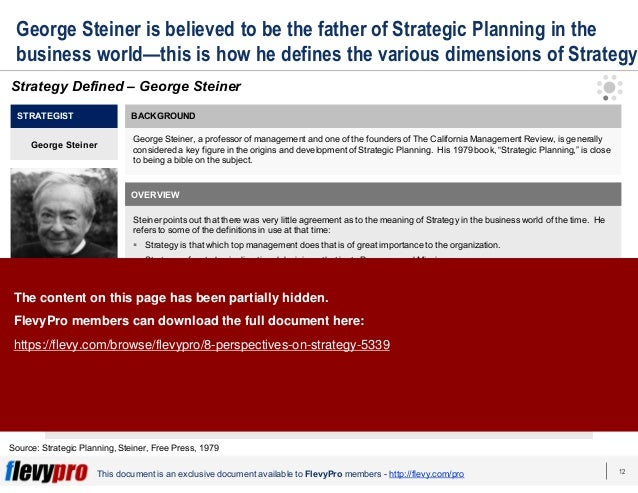 12This document is an exclusive document available to FlevyPro members - http://flevy.com/pro George Steiner is believed t...