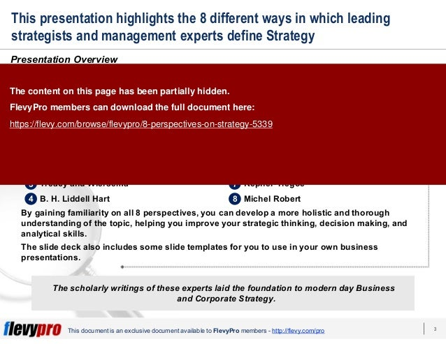 3This document is an exclusive document available to FlevyPro members - http://flevy.com/pro This presentation highlights ...