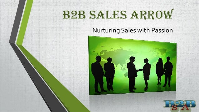 B2B Sales Arrow Nurturing Sales with Passion