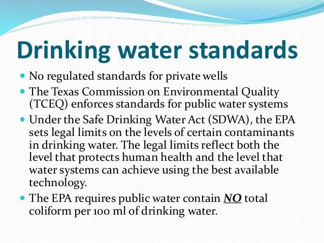 Epa Regulated Drinking Water Contaminants