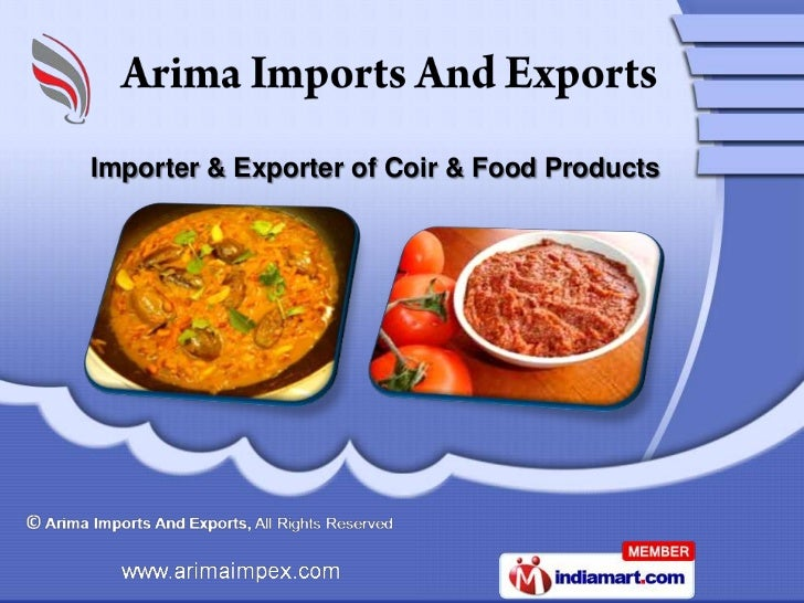 Importer & Exporter of Coir & Food Products