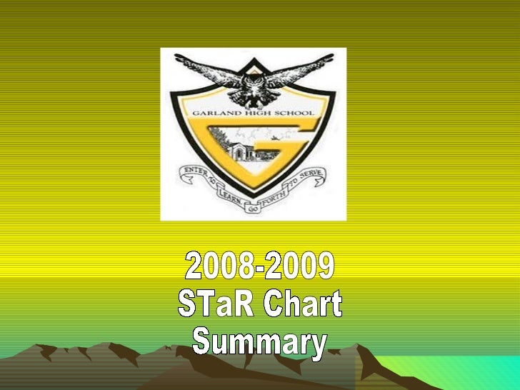 2008-2009 STaR Chart Summary