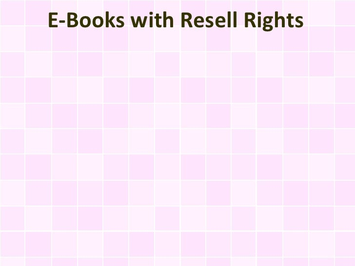 E-Books with Resell Rights
