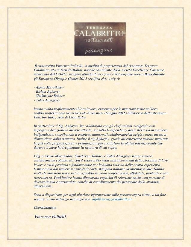 Appreciation Letter Vincenzo Politelli