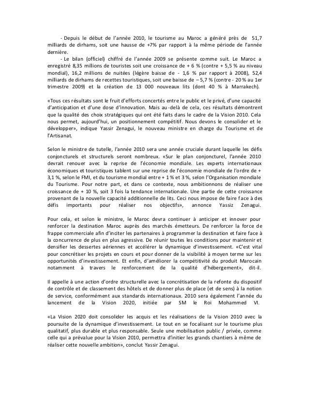 53688594 secteur-du-tourisme-au-maroc