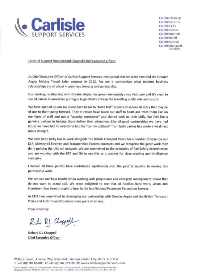 Carlisle Letter