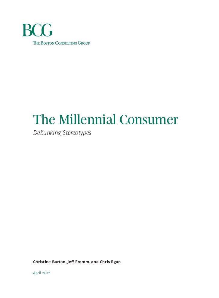 The Millennial Consumer (Boston Consulting Group) - AB12 Slide 3