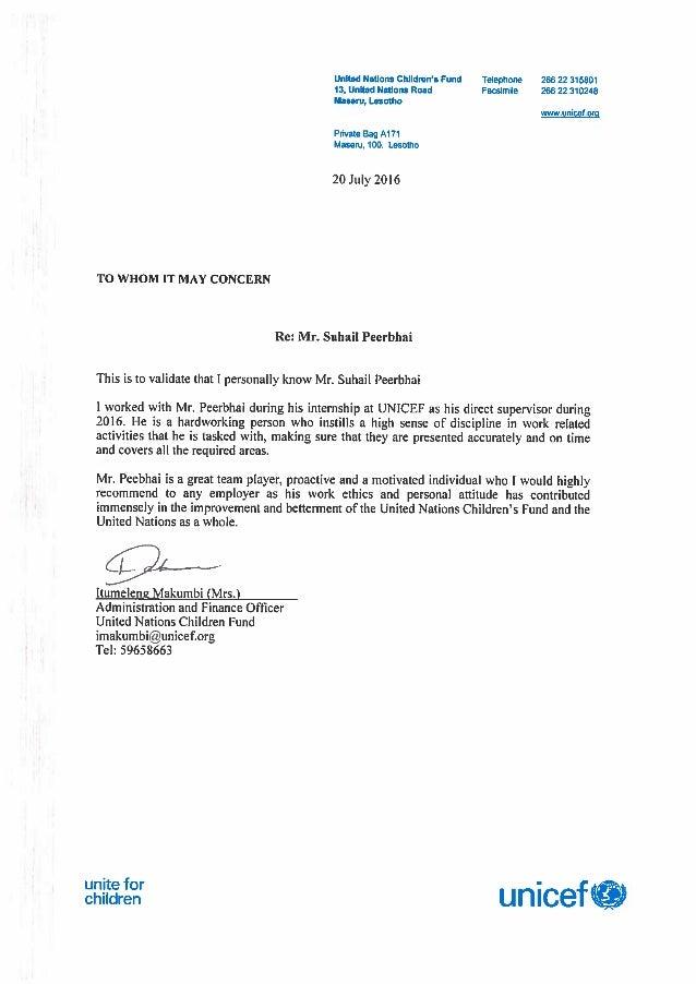 Mr Suhail Peerbhai recommendation letter