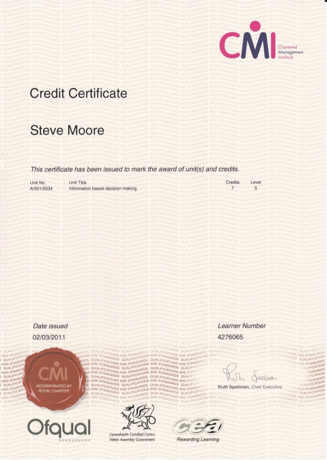 Cmi level 5 management 5006