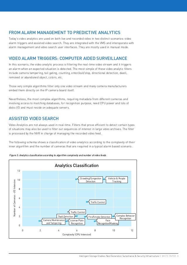 Intelligent Storage Enables Next Generation Surveillance & Security Infrastructure   WHITE PAPER 8 FROM ALARM MANAGEMENT T...