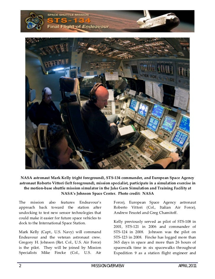 Press Kit for Space Shuttle Endeavour's Final Mission, STS-134