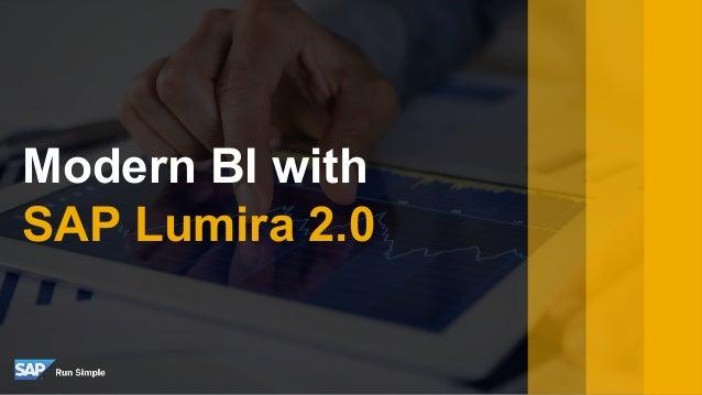Modern BI with SAP Lumira 2.0