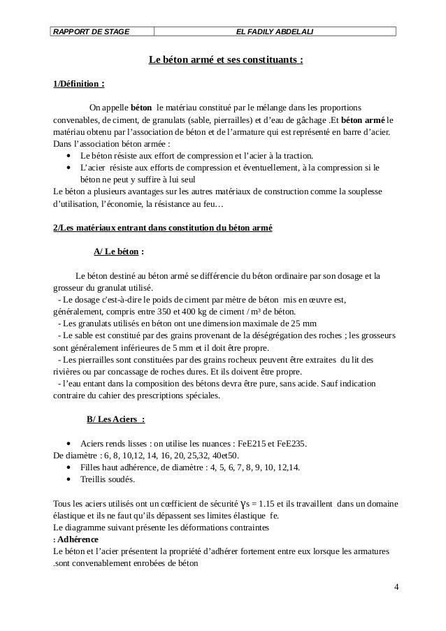 Exemple Rapport De Stage Au Bureau D Etude Btp