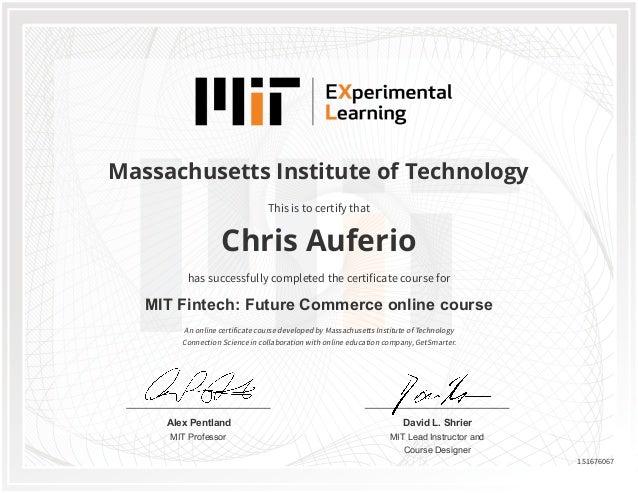 Mit Fintech Certificate