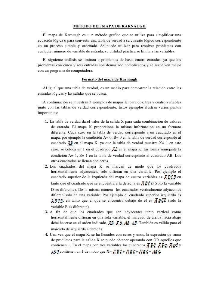 METODO DEL MAPA DE KARNAUGH 2