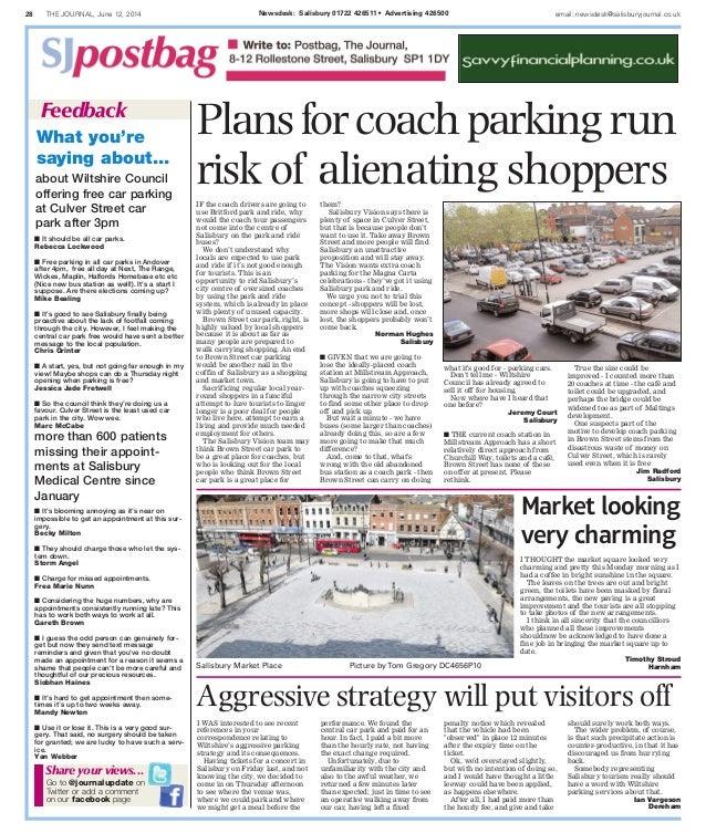 28 THE JOURNAL, June 12, 2014 Newsdesk: Salisbury 01722 426511 • Advertising 426500 email: newsdesk@salisburyjournal.co.uk...