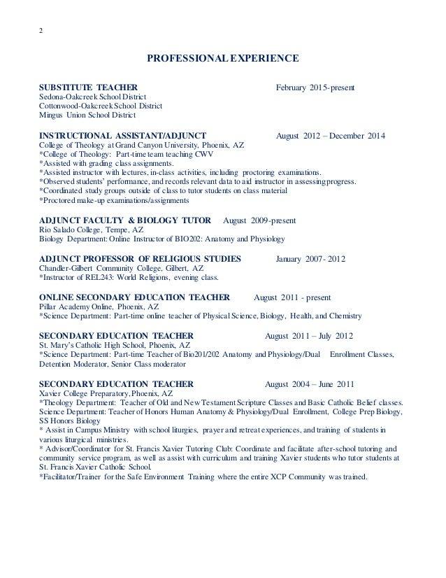 Adjunct Professor CV Rne I Resume And Resume Templates  Adjunct Professor Resume