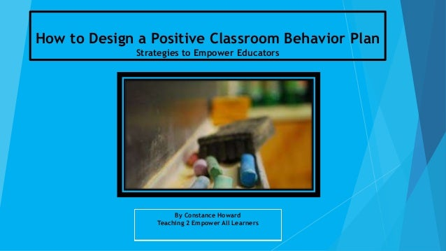 Developing your class room behavior management plan